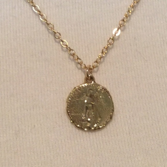 Jessica elliot jewelry 1 left gold coin pendant necklace poshmark m5acaa8f684b5ce6ced63b419 aloadofball Image collections